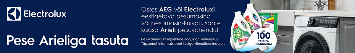 Ariel AEG ja Electrolux pesumasinaga