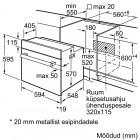 Bosch HBF010BR3S, Integreeritav köögitehnika, Integreeritavad ahjud, Elektrilised ahjud
