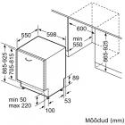 Bosch SBH4HVX31E, Integreeritav köögitehnika, Integreeritavad nõudepesumasinad, Täisintegreeritavad nõudepesumasinad 60 cm