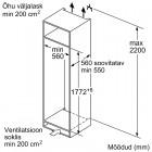 Bosch KIR81VSF0, Integreeritav köögitehnika, Integreeritavad külmikud, Üheukselised külmikud