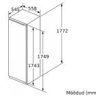 Bosch KIR81AFE0, Integreeritav köögitehnika, Integreeritavad külmikud, Üheukselised külmikud